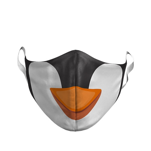 ADULT CARTOON PENGUIN FACE MASK
