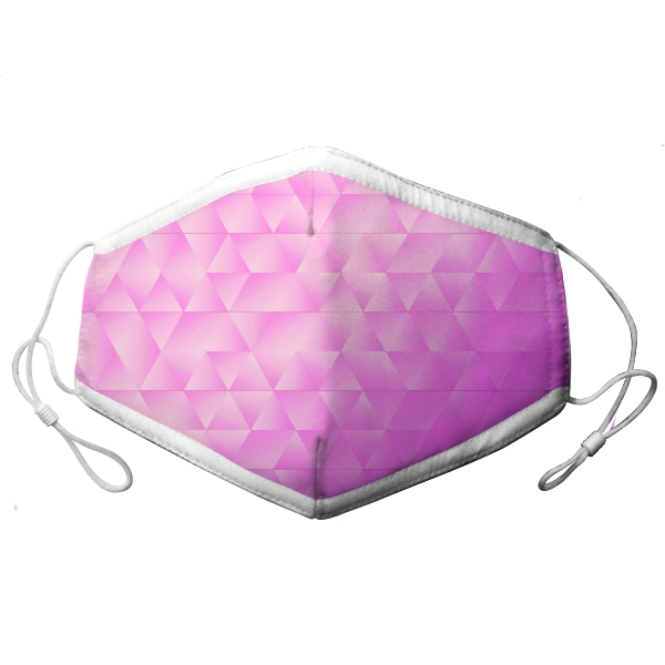 ADULT ADJUSTABLE MASK PINK/PURPLE GRADIENT