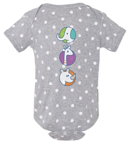 INFANT ROMPER POLKA DOT ANIMALS