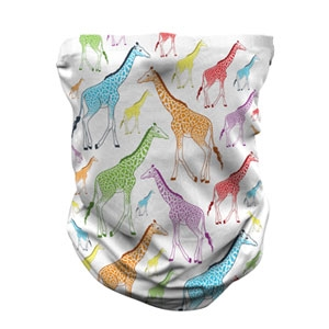 ADULT NECK GAITER GIRAFFE REPEAT PATTERN