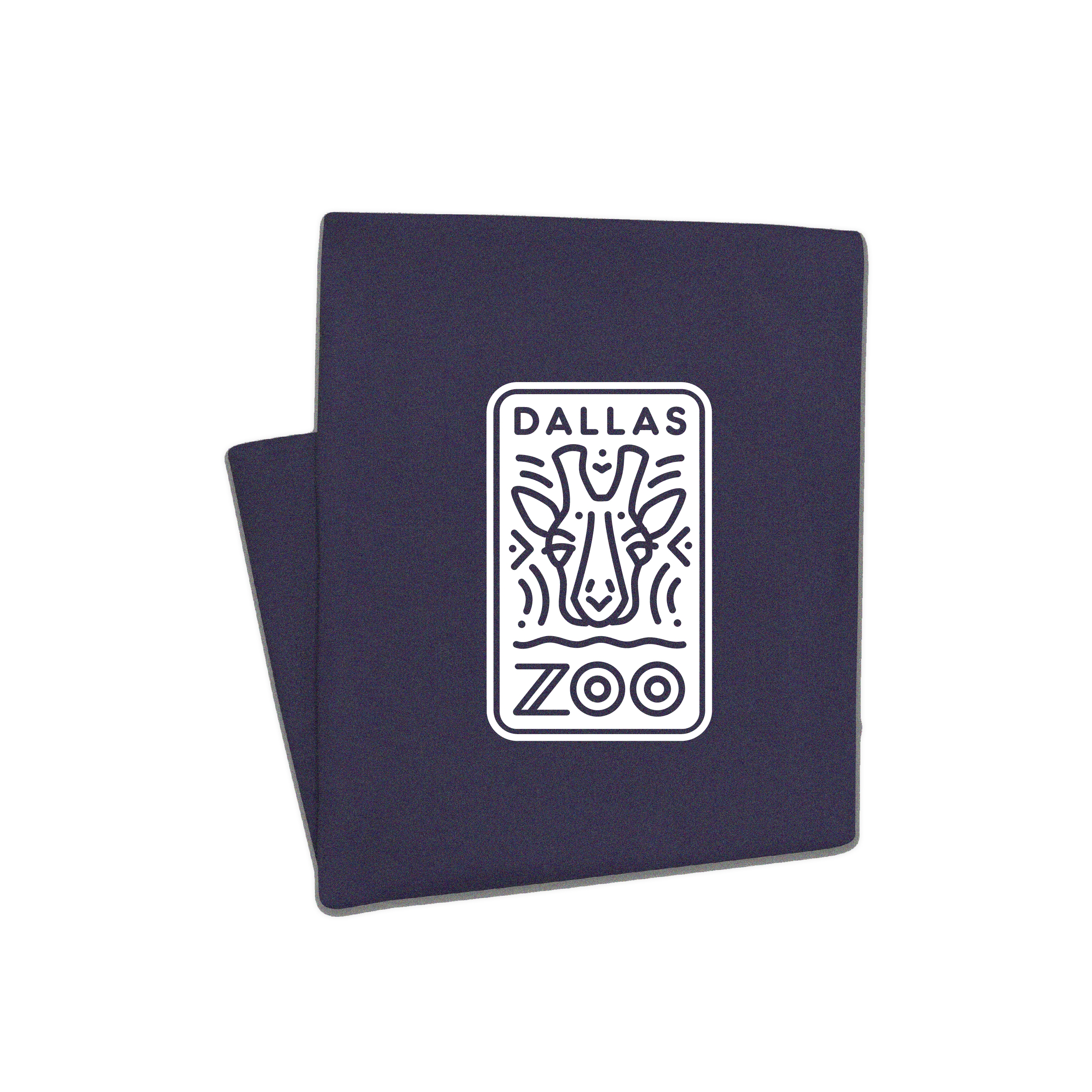 DALLAS LOGO HEATHER NAVY BLANKET
