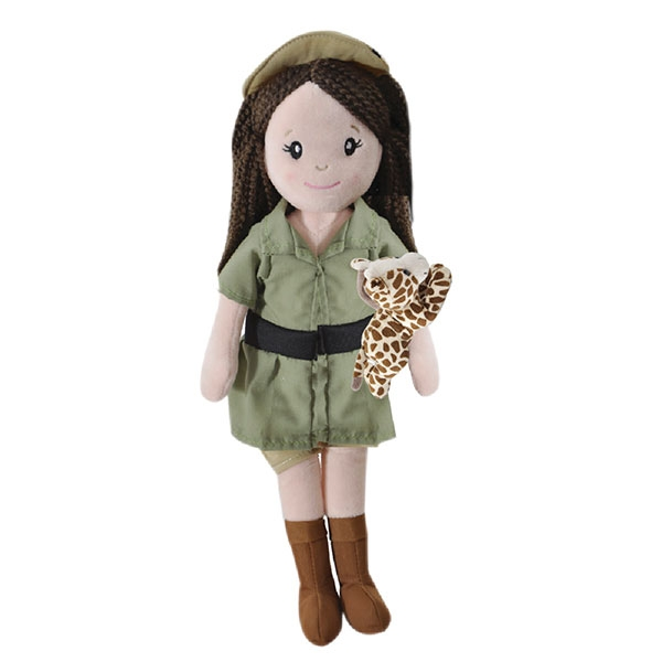 ZOOKEEPER DOLL WITH GIRAFFE PLUSH