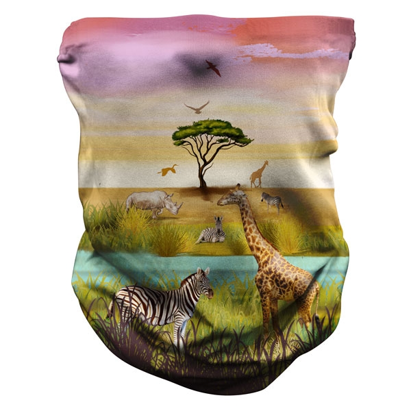 YOUTH NECK GAITER AFRICAN SAVANNA