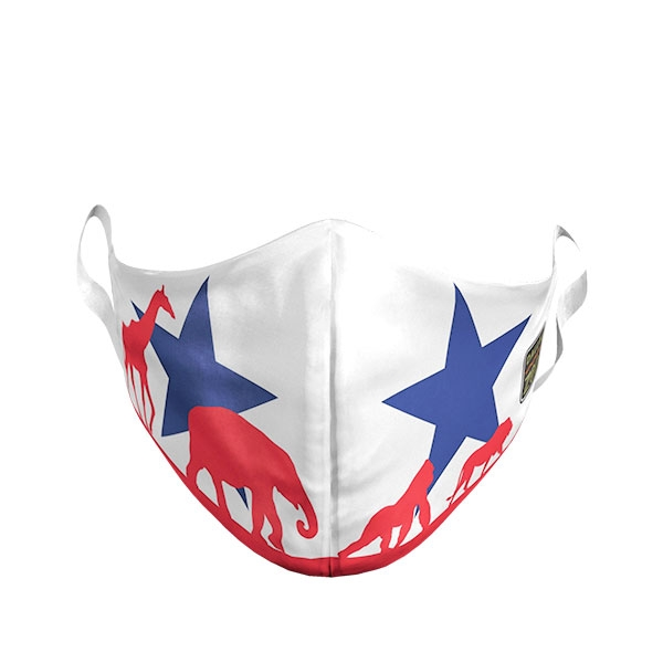ADULT DALLAS ZOO TEXAS FLAG MASK