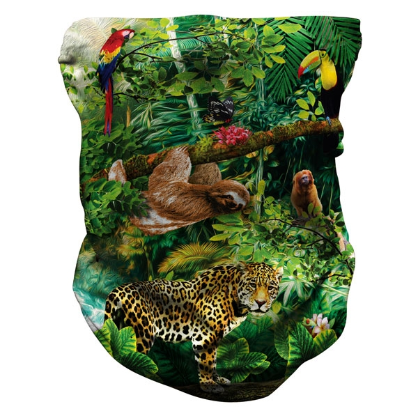 ADULT NECK GAITER RAINFOREST PATTERN