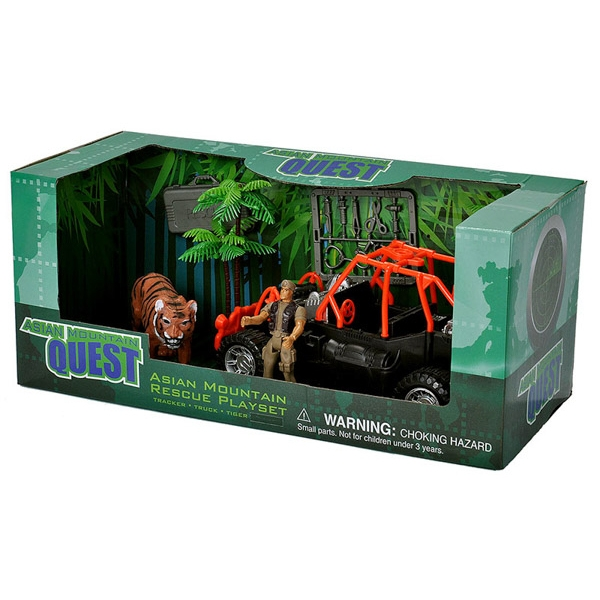 ASIAN MOUNTAIN QUEST TIGER RESCUE PLAYSET