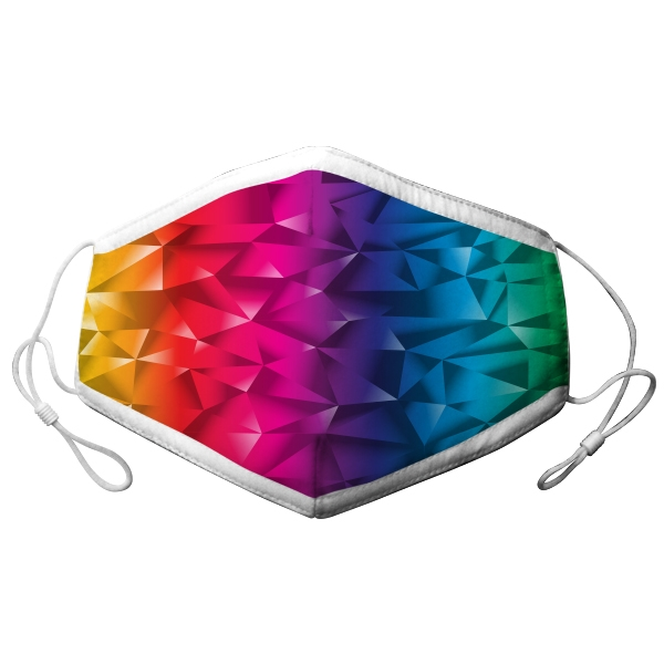 ADULT ADJUSTABLE MASK RAINBOW GRADIENT
