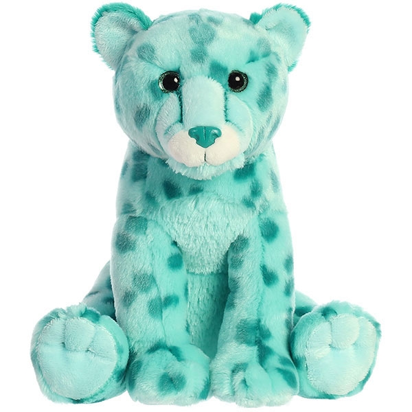 CHEETAH PLUSH - AQUA