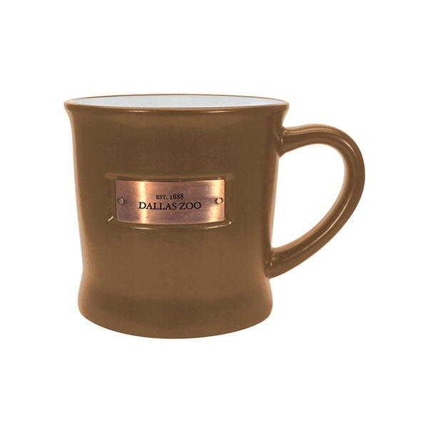 DALLAS ZOO METAL EMBLEM TAN MUG