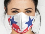 ADULT LARGE DALLAS ZOO TEXAS FLAG MASK